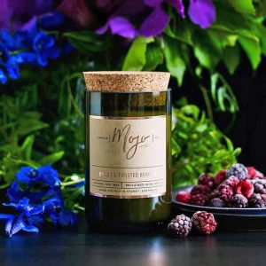 Mojo Wine Bottle Candle - Violet & Frosted Berries