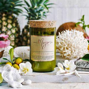 Mojo Wine Bottle Candle - Sweet Tangerine & Island Fruits